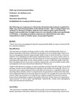 PHIL235 Environmental Ethics Discussion Board Posts